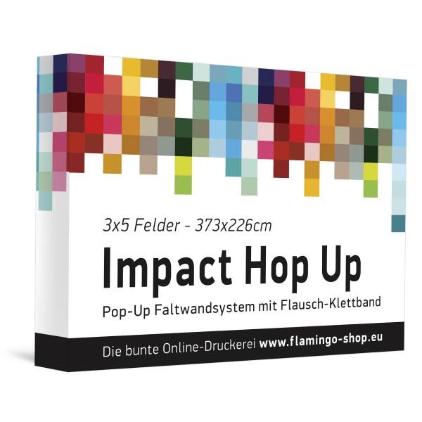 Textilfaltdisplay Impact Hop-Up 3x5 Felder gerade