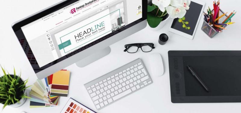 Einfach selbst gestalten mit dem Online-Designer von Flamingo Druckparadies!