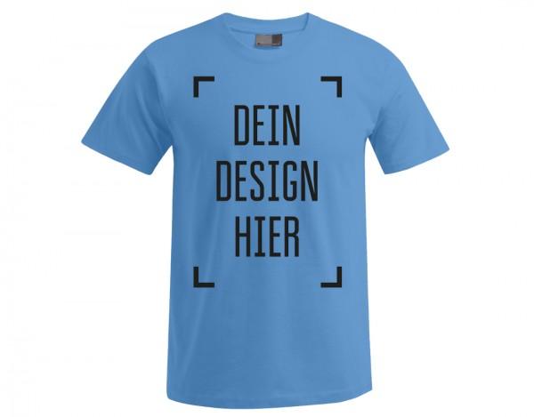 Premium Herren T-Shirt Himmelblau - Flamingo Druckparadies