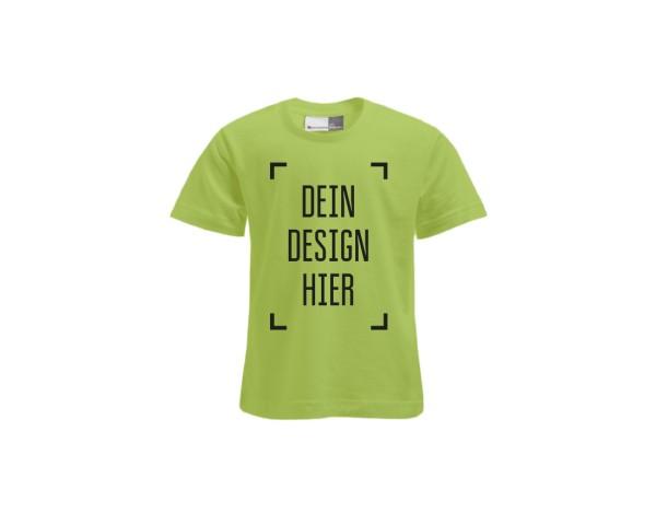 Premium Kinder T-Shirt Wilde Limette - Flamingo Druckparadies