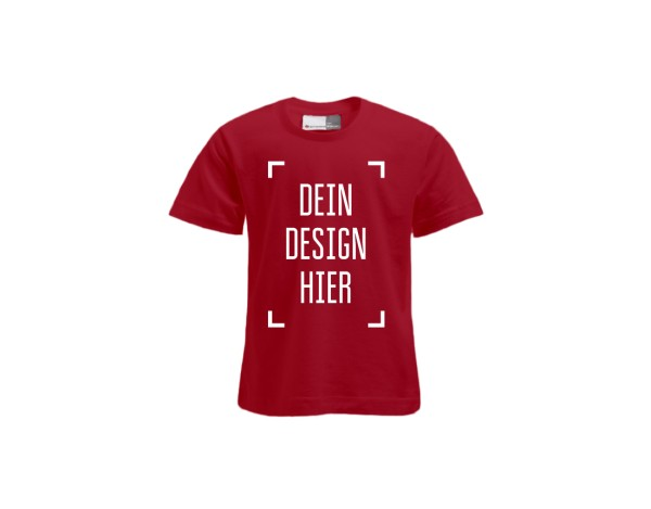 Premium Kinder T-Shirt Rot - Flamingo Druckparadies