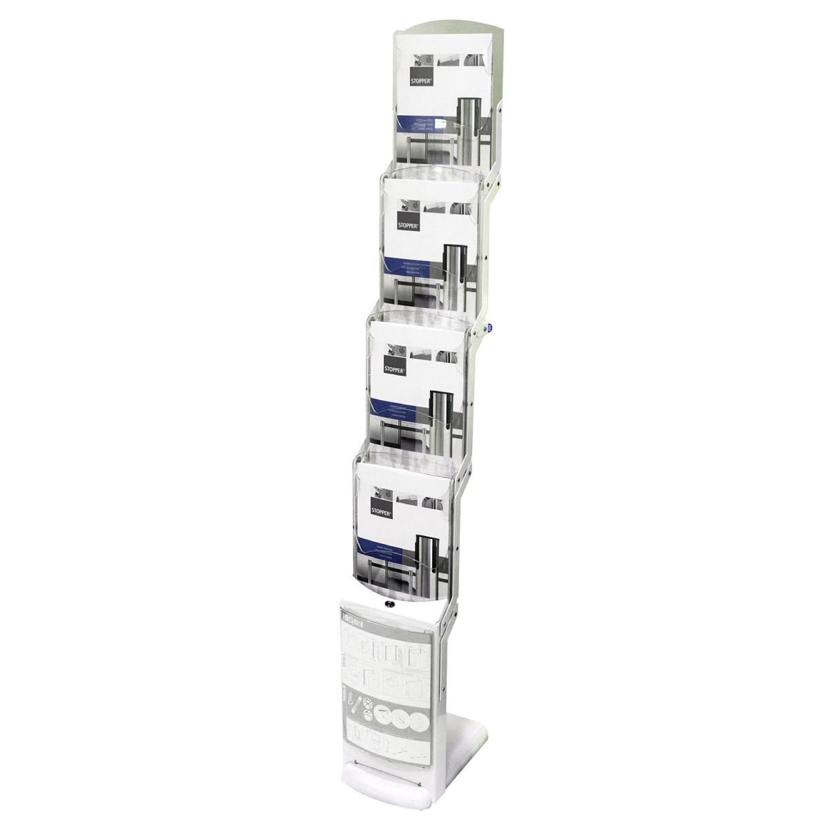 Faltbarer Prospektständer Real Zip Bianco - 4xA4