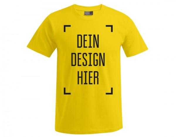 Premium Herren T-Shirt Gelb - Flamingo Druckparadies