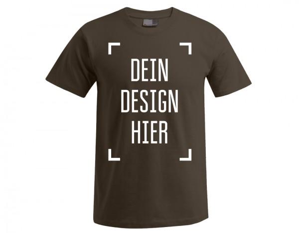 Premium Herren T-Shirt Braun - Flamingo Druckparadies