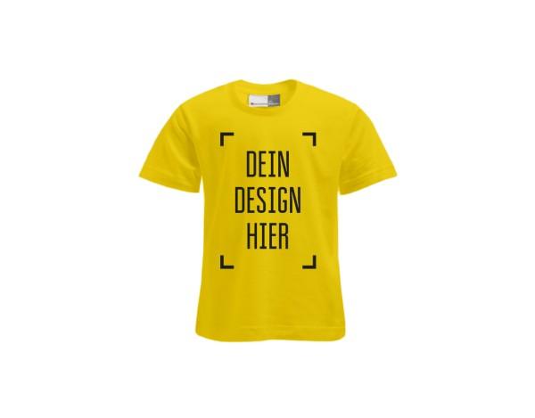 Premium Kinder T-Shirt Gelb - Flamingo Druckparadies