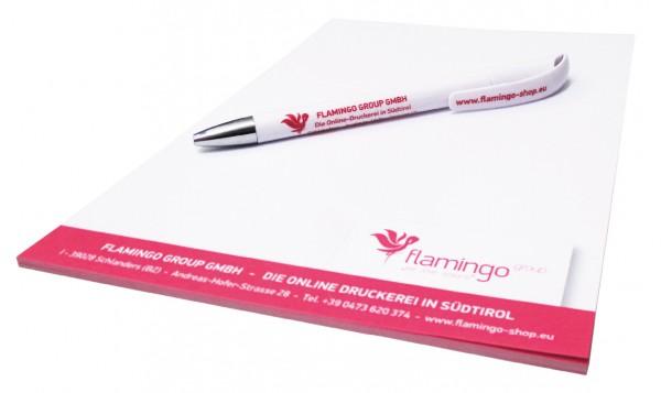 Prämie - Werbeblock mit Kugelschreiber