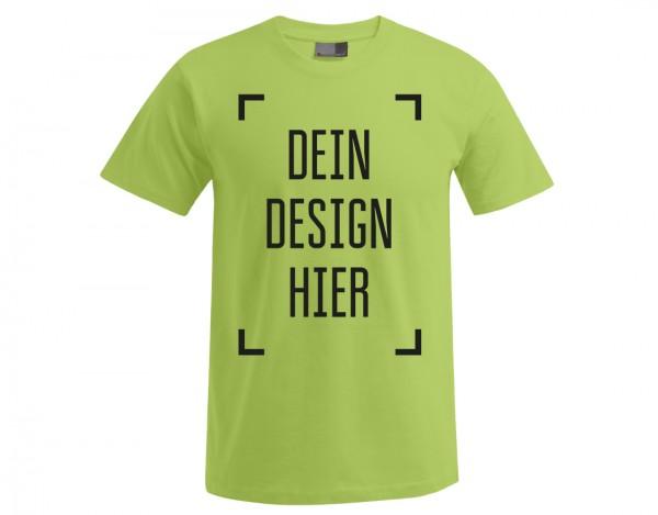 Premium Herren T-Shirt Wilde Limette - Flamingo Druckparadies