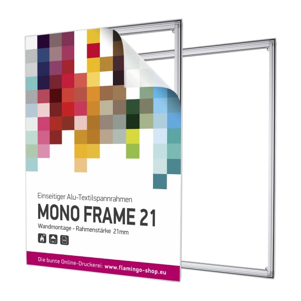 Textilspannrahmen Mono Frame 59,4x84,1cm - System inkl. Druck