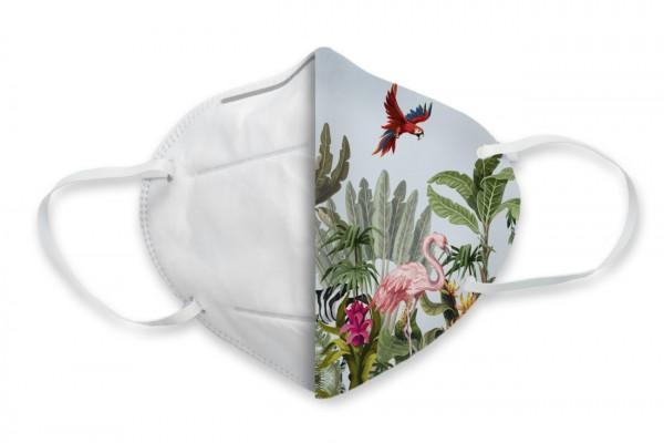 FFP2 (KN95) Masken-Cover Dschungeltiere - Flamingo Druckparadies