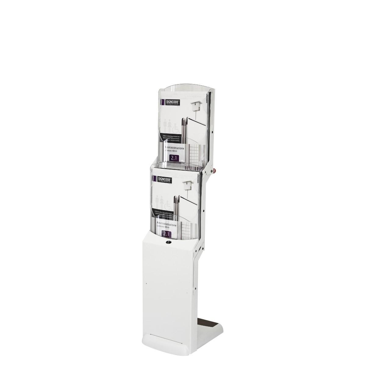Faltbarer Prospektständer Real Zip Bianco - 2xA4
