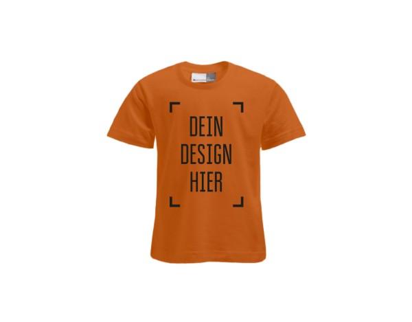 Premium Kinder T-Shirt Orange - Flamingo Druckparadies