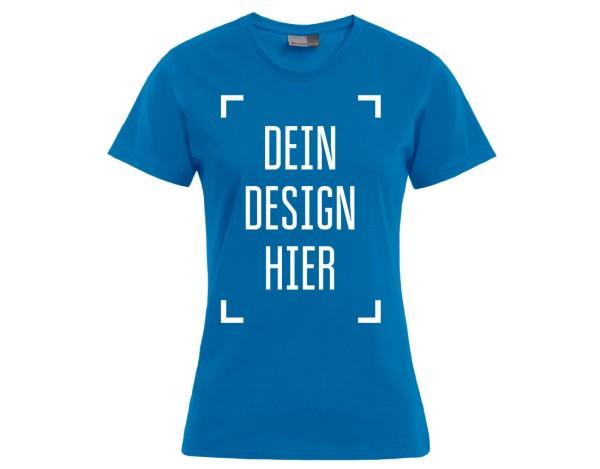 Premium Damen T-Shirt Türkis - Flamingo Druckparadies