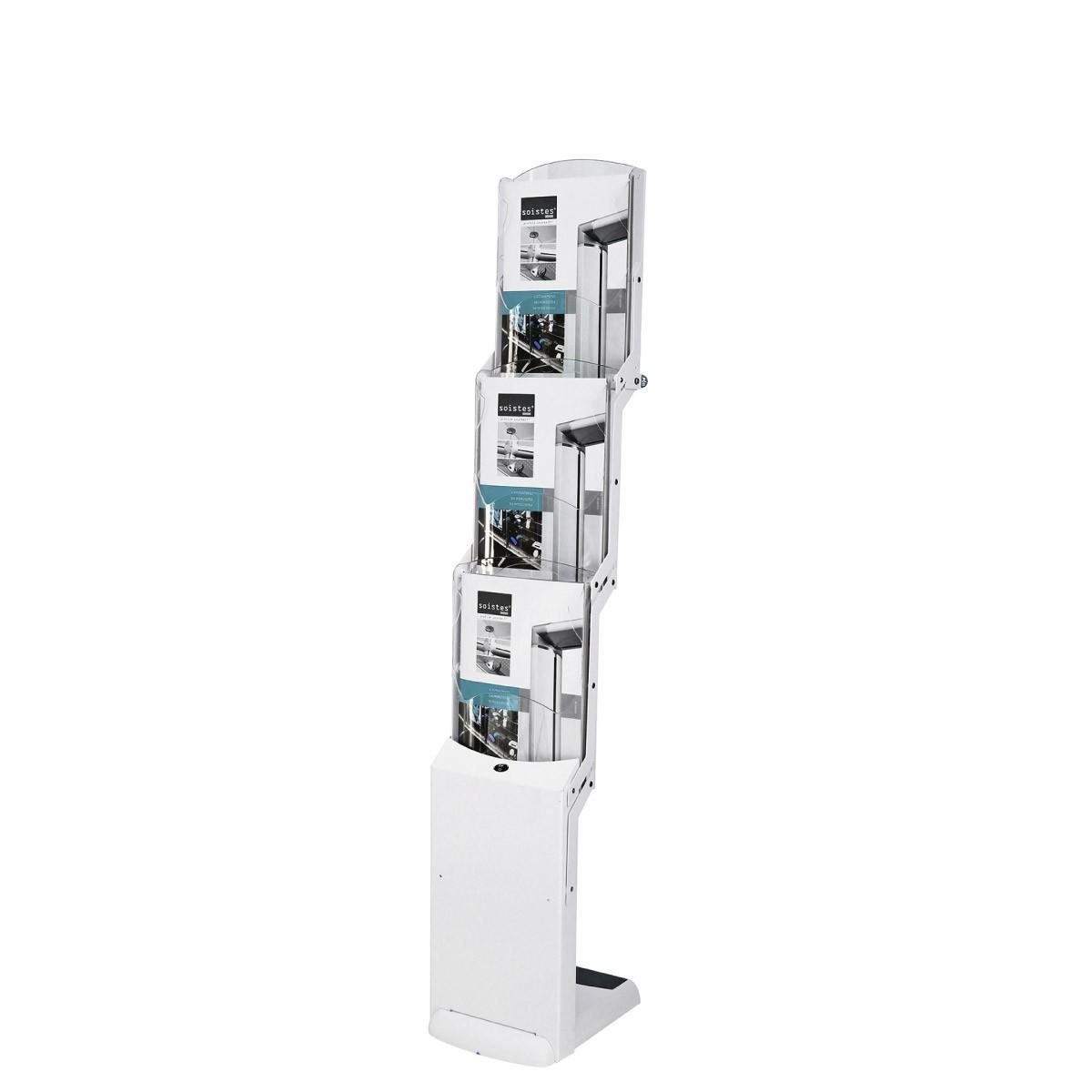 Faltbarer Prospektständer Real Zip Bianco - 3xA4