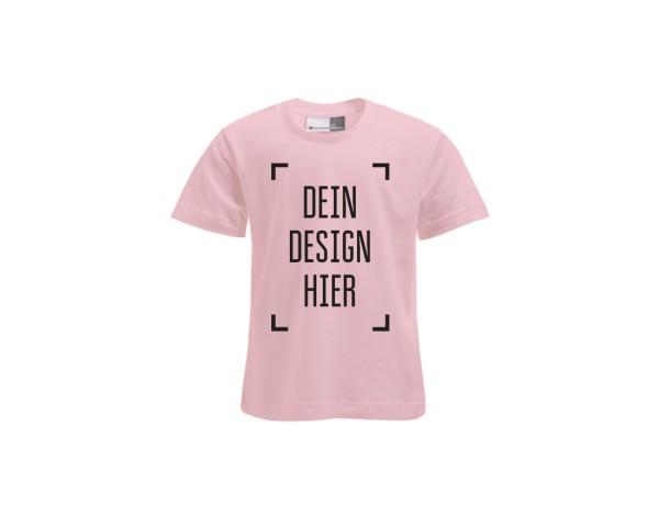 Premium Kinder T-Shirt Rosa - Flamingo Druckparadies