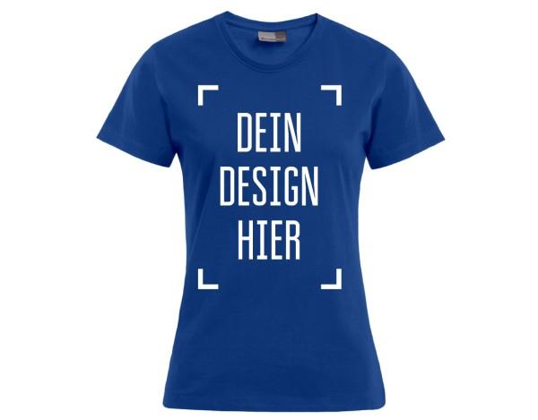 Premium Damen T-Shirt Königsblau - Flamingo Druckparadies