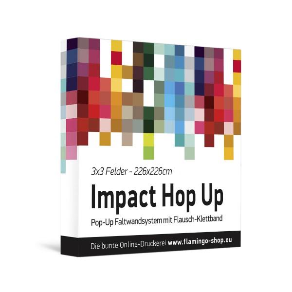 Textilfaltdisplay Impact Hop-Up 3x3 Felder gerade