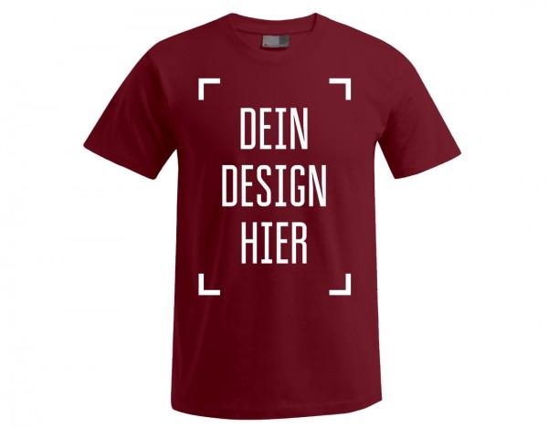 Premium Herren T-Shirt Kirschrot - Flamingo Druckparadies