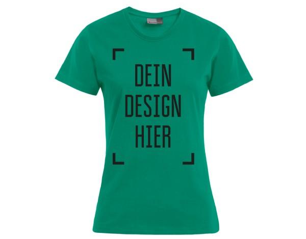 Premium Damen T-Shirt Jade - Flamingo Druckparadies