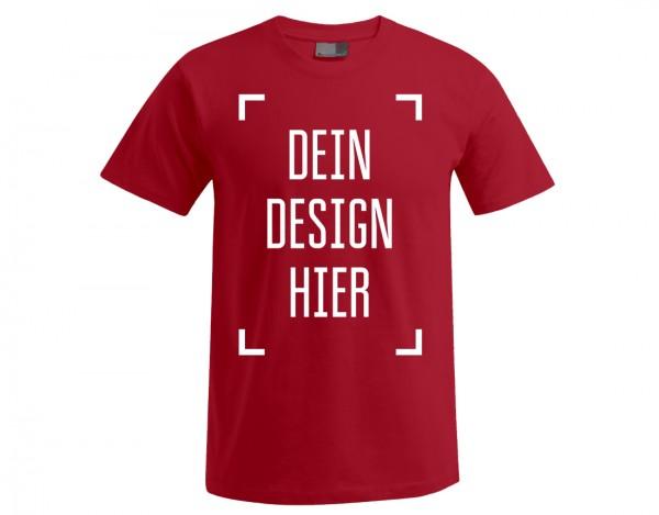 Premium Herren T-Shirt Rot - Flamingo Druckparadies