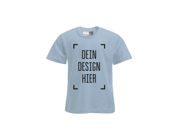 Premium Kinder T-Shirt Babyblau - Flamingo Druckparadies