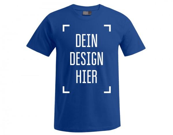 Premium Herren T-Shirt Königsblau - Flamingo Druckparadies