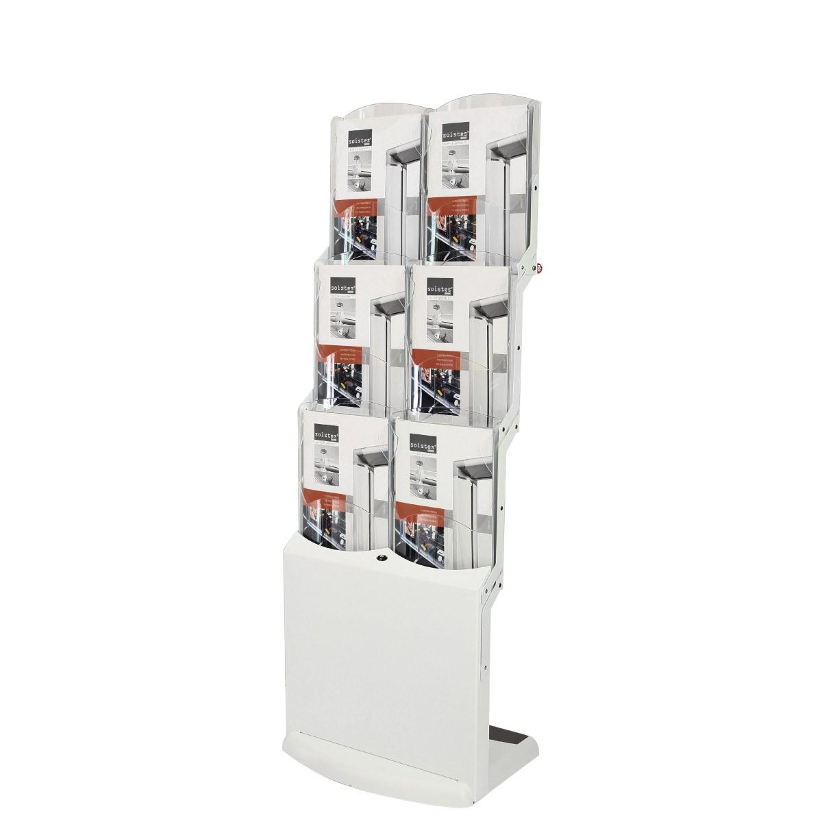 Faltbarer Prospektständer Real Zip Bianco - 6xA4