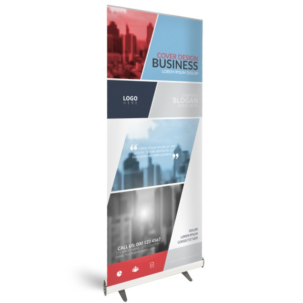Roll-Up Budget 85x200cm - Flamingo Druckparadies