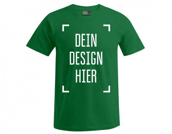 Premium Herren T-Shirt Dunkelgrün - Flamingo Druckparadies