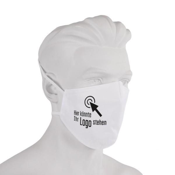Bedruckte Gesichtsmaske aus Stoff ringsum gesäumt - Flamingo Druckparadies