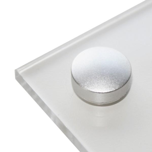 Schraubenabdeckungen Micro Alu - Silber