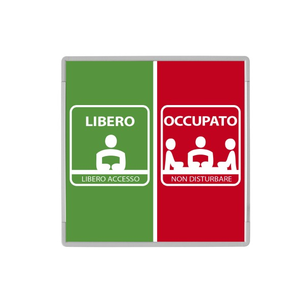 Signcode Wall 148x148mm - Libero-Occupato