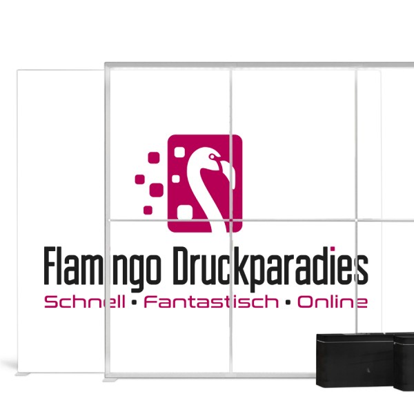 Pixlip Go Lightbox 300x250cm - Flamingo Druckparadies