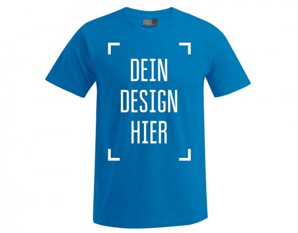 Premium Herren T-Shirt Türkis - Flamingo Druckparadies