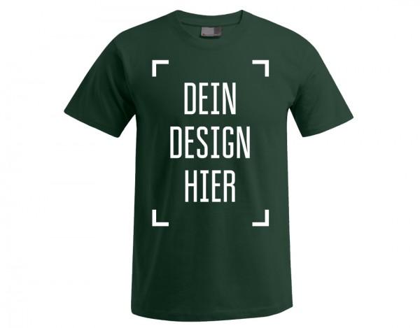 Premium Herren T-Shirt Waldgrün - Flamingo Druckparadies