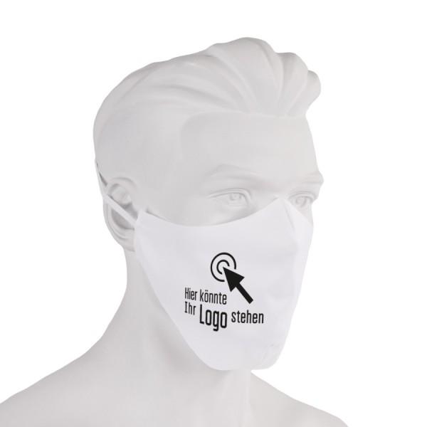Bedruckte Gesichtsmaske aus Stoff ringsum geschnitten - Flamingo Druckparadies