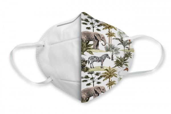 FFP2 (KN95) Masken-Cover Dschungel - Flamingo Druckparadies