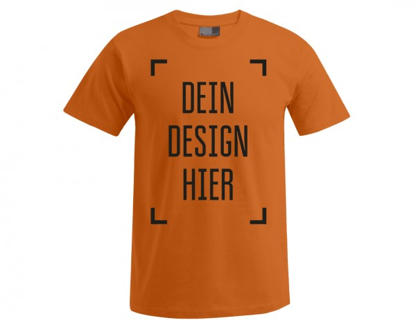 Premium Herren T-Shirt Orange - Flamingo Druckparadies